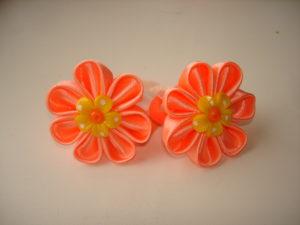 виды цветов канзаши из атласных лент