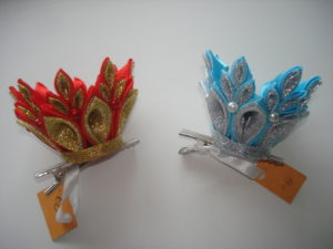 корона из атласных лент канзаши