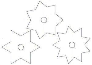 шаблон звездочка канзаши своими руками на бантики канзаши