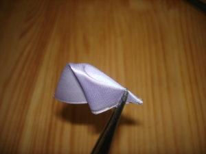 как сделать круглый лепесток канзаши мастер класс мк пошагово
