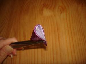двойной круглый лепесток канзаши МК мастер класс пошагово