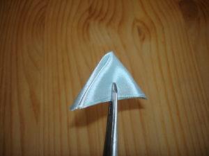 острый лепесток канзаши из ленты 5 см мастер класс для начинающих как сделать