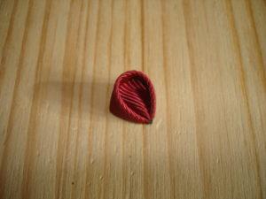 заколка клик клак канзаши круглые лепестки из ленты 2,5 см для начинающих