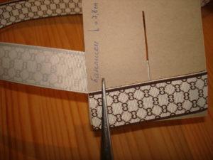 бантики по шаблону из лент МК с помощью шаблона