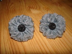 цветы для резинок из органзы