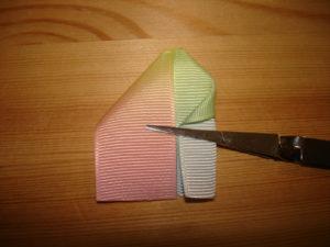 канзаши радужные резинки лепесток сердечко канзаши