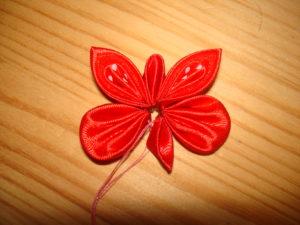 заколка бабочка канзаши своими руками