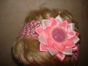 повязка на голову в стиле канзаши