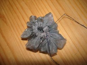 цветы из органзы простые