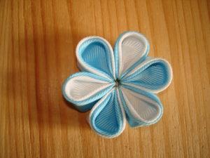 цветы из репсовой ленты 4 см
