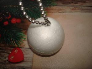 елочный шар из пенопласта своими руками