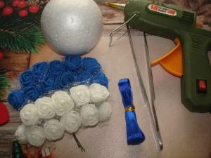Украсим шары из пенопласта своими руками