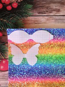 Бантики-бабочки из экокожи